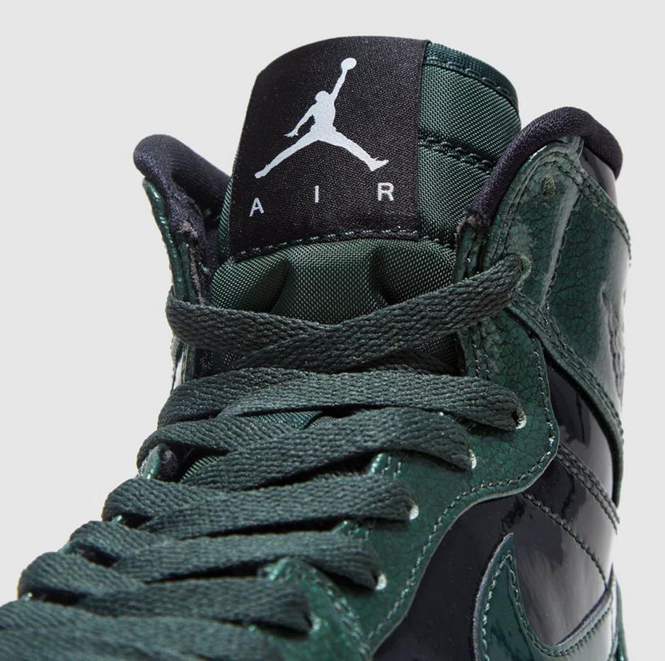 Air Jordan 1 High Grove Green Patent Leather  8ab0d3f364
