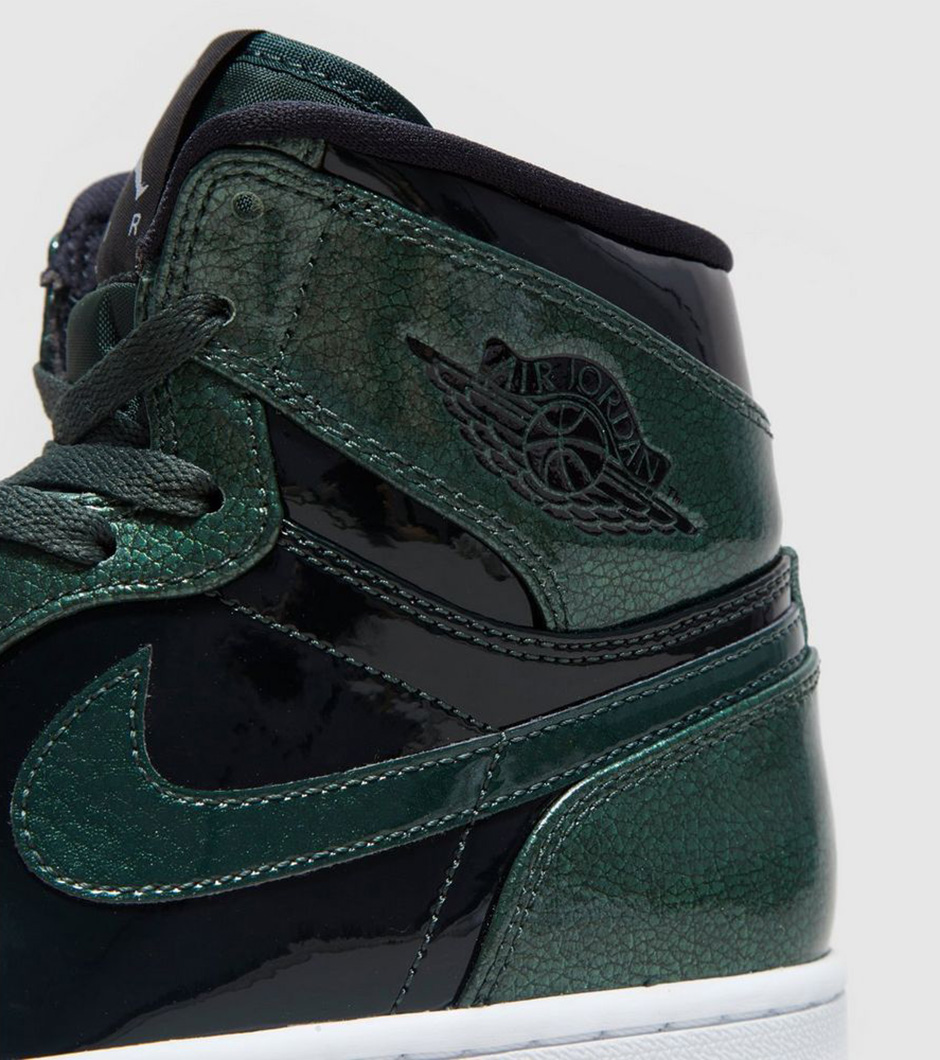 new product d0977 cd2b8 Air Jordan 1 High Grove Green Patent Leather   SneakerNews.com