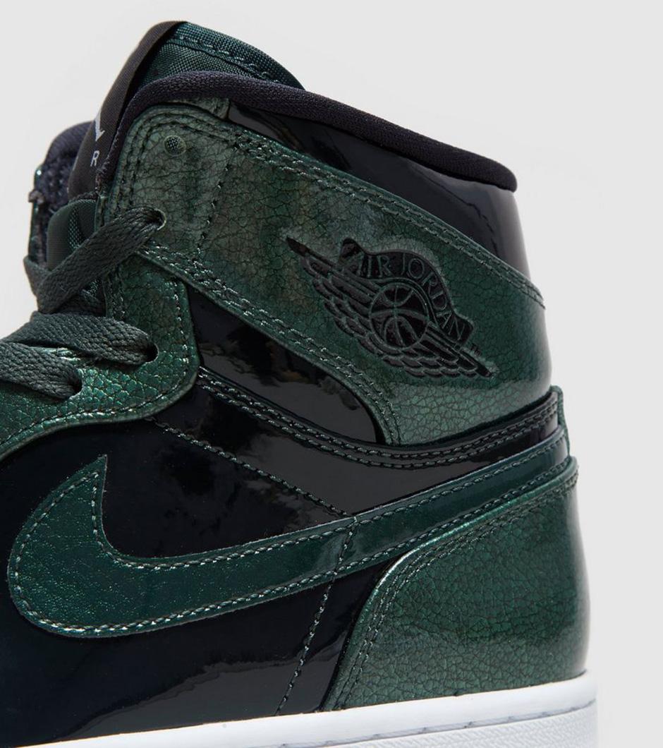 4454b43cfed0 Air Jordan 1 High Grove Green Patent Leather
