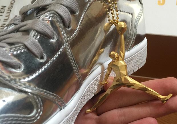 48957ea9512 The Swooshless Air Jordan 1 Low Pinnacle Releases Next Month in Metallic  Silver