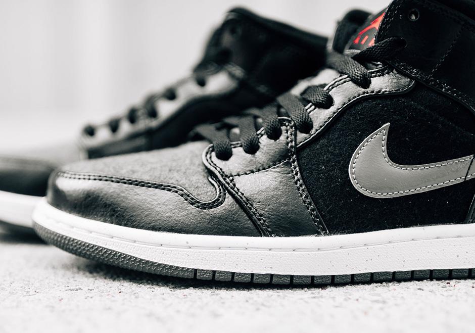 quality design 82b7d 37816 Air Jordan 1 Mid Winter Black Dark Grey   SneakerNews.com