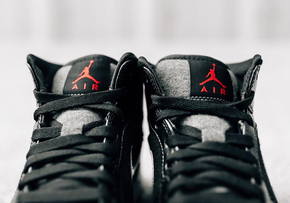 Air Jordan 1 Mid Winter Black Dark Grey  72ad81a96