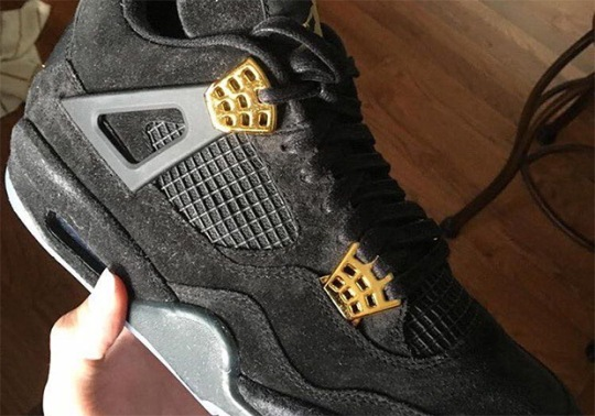 Black And Gold Air Jordan 4s With Glowing Soles Are Coming Soon
