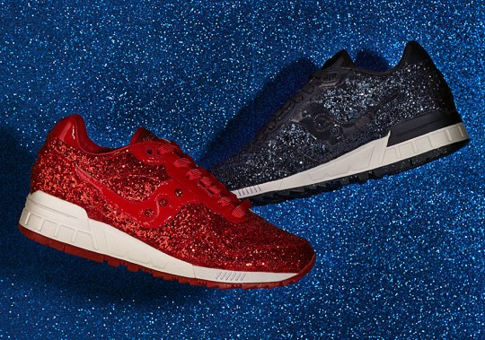 ASOS White and Saucony Collab For Glittered Shadow 5000 Colorways