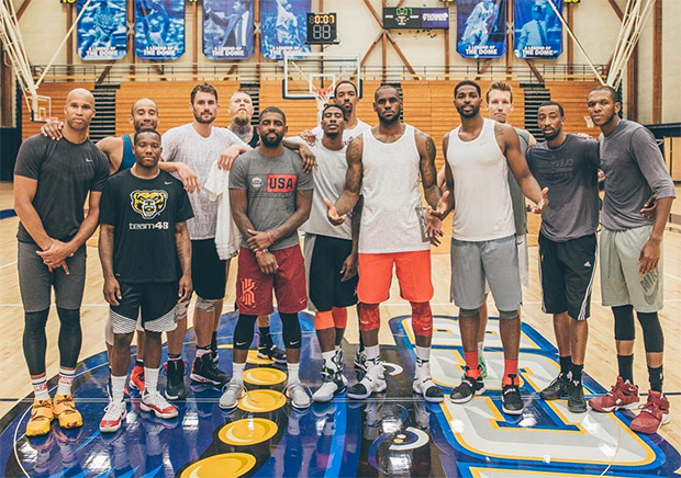 kyrie irving posts epic team photo after workout sneakernews com