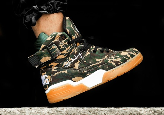 The EWING 33 Hi Suits Up In Camo and Gum