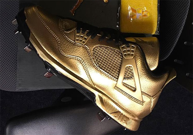 ... switzerland gio gonzalez reveals gold air jordan 4 cleats for child  cancer awareness day sneakernews 4ceb5 816c11999