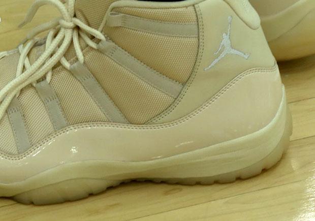 size 40 00fc1 c75c8 Jabari Parker Air Jordan 11 PE Cream | SneakerNews.com