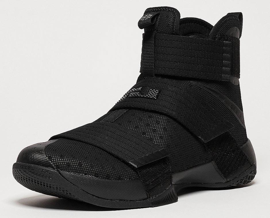 hot sale 2017 Nike LeBron Soldier 10 Triple Black 844374 001 ... 47163fda8864