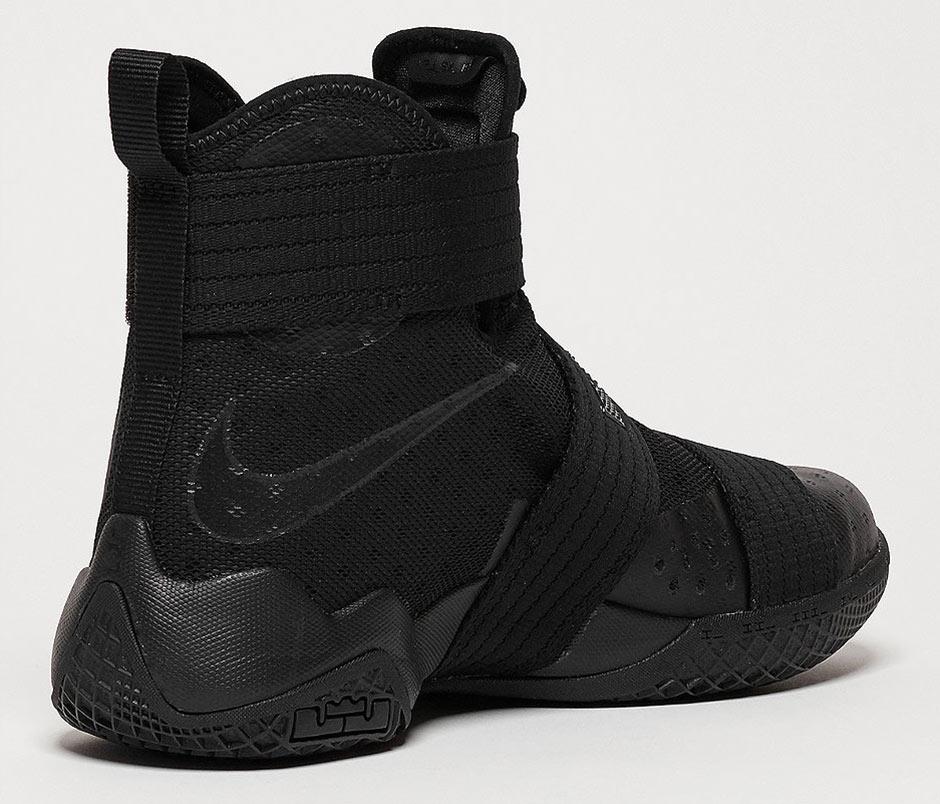 check out b7510 146b0 Nike LeBron Soldier 10 Triple Black 844374-001 | SneakerNews.com