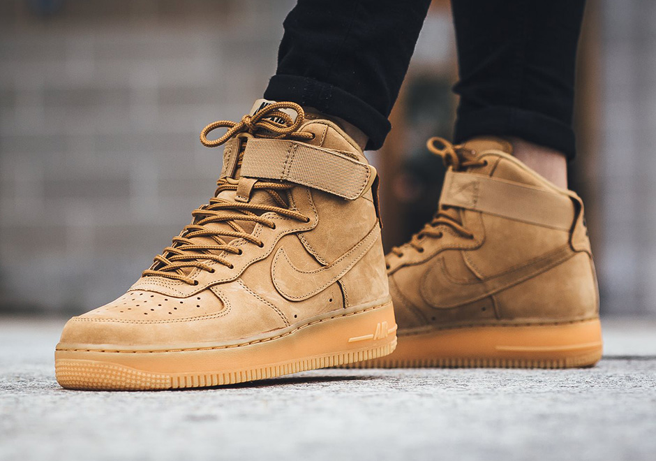 "Nike Air Force 1 High ""Flax"" Returns For Women b3b395c1ab"