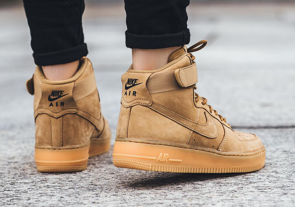"more photos 36661 9ec16 ... Nike WMNS Air Force 1 High ""Flax"" ..."