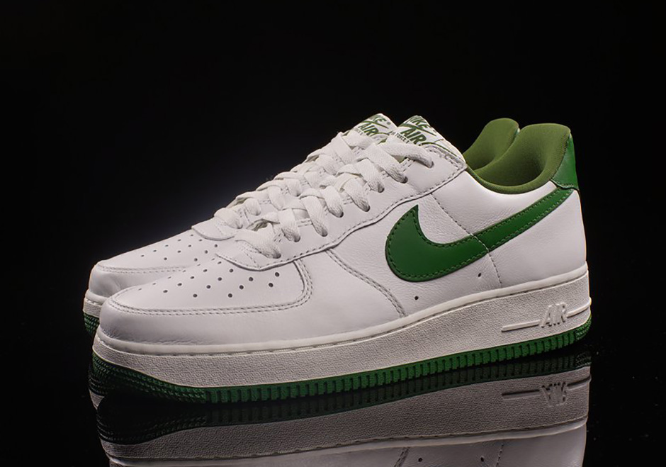 green nike air force 1 low