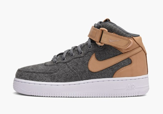 Wool And Leather Hit The Nike Air Force 1 For Fall