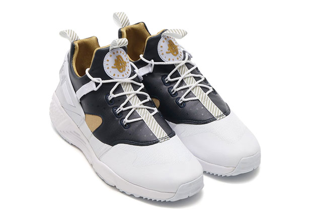 Nike Huarache Utility White Metallic Gold | SneakerNews.com