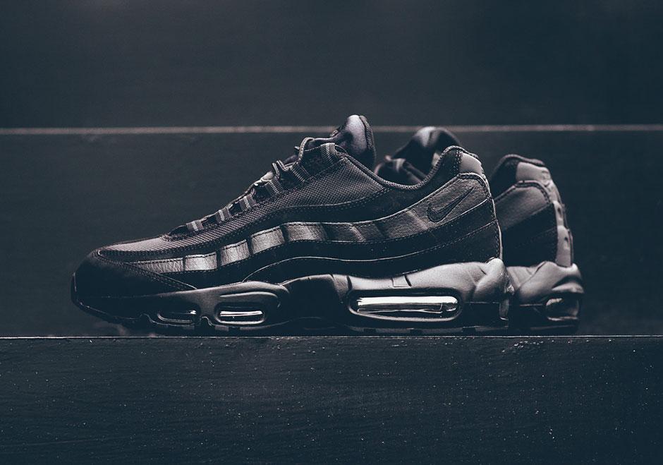 """The Nike Air Max 95 """"Triple Black"""" Hits Stores Again"""