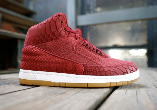 The Nike Air Python Is Back in Red Snakeskin Suede