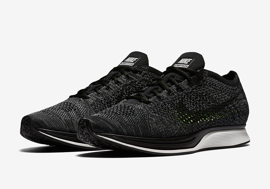 low priced 3cff5 e64ee Nike Flyknit Racer Blackout 526628-005   SneakerNews.com
