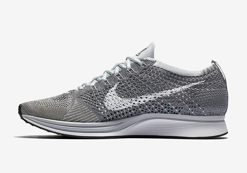 Nike Roshe Exécuter Coureur Flyknit Gris
