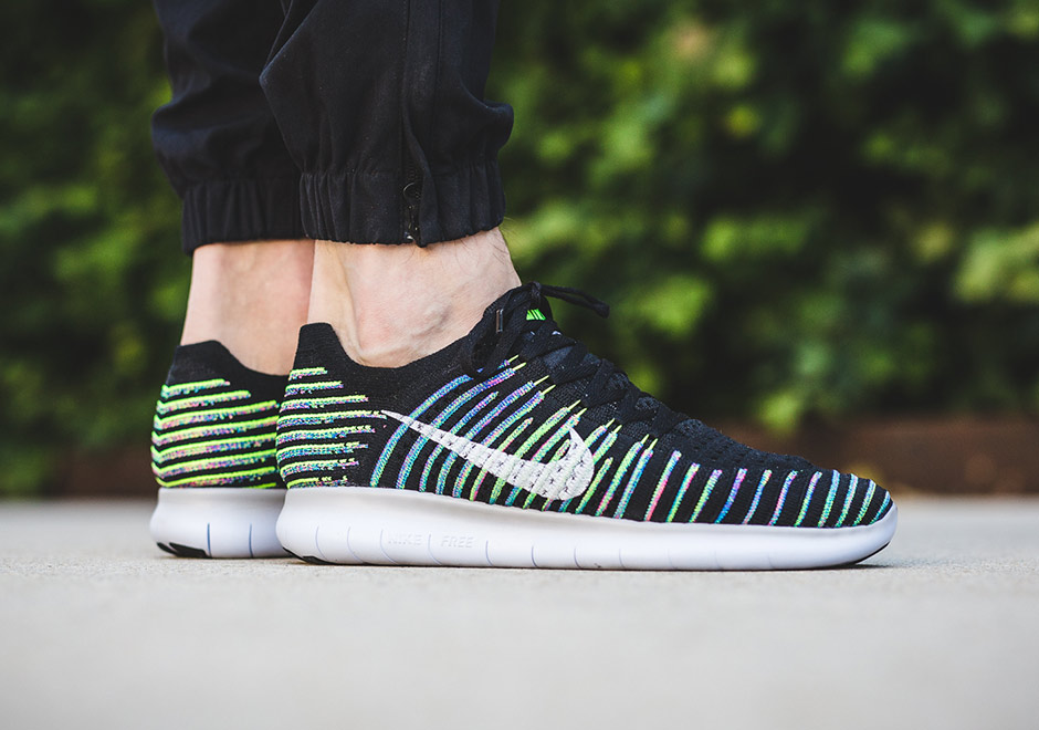 "buy popular 52522 97f97 Flyknit goes ""Multicolor"" in a whole new way wit this upcoming edition of  the Nike Free RN Flyknit featuring rainbow-colored striping."