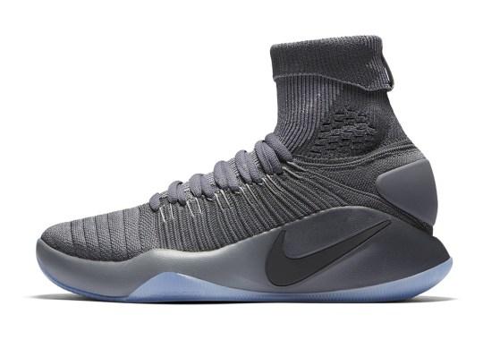 quality design 16e2e f9924 Dark Grey Hits The Nike Hyperdunk 2016 Flyknit