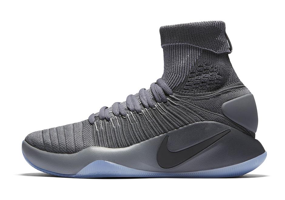 4da36260ad56 Nike Hyperdunk 2016 Elite Flyknit Dark Grey