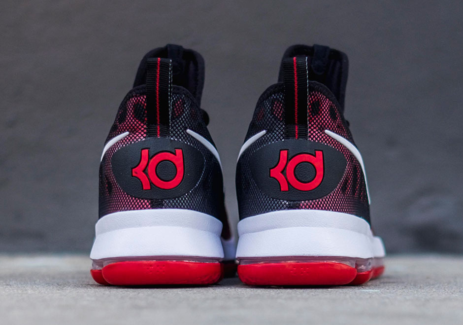 Real Nike KD 7 Black University Red White