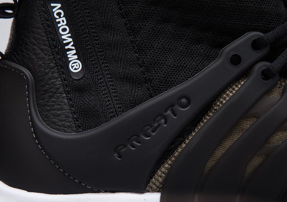 435b8a7c34 BlackBlackBambooBlack ACRONYM x Nike Air Presto Mid .