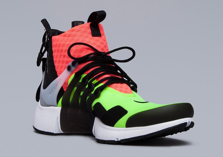 the best attitude f2d11 051bf ACRONYM x Nike Air Presto Mid. Color WhiteHot Lava-Volt-Black. show  comments