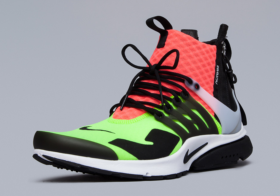 eddbcf453874 ... sneakprints poster unframed 092a7 591f2  czech acronym x nike air  presto mid. color white hot lava volt black. show