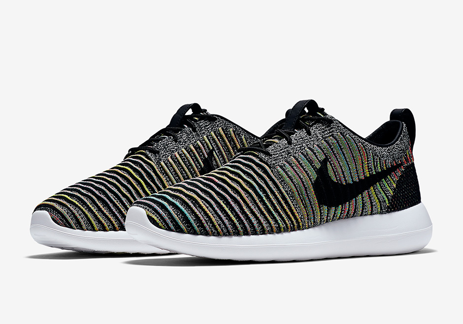 New Nike Roshe Two Flyknit Colorful Black