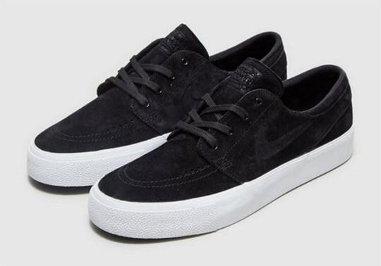 Premium Black Suede Versions Of The Nike SB Stefan Janoski Appear