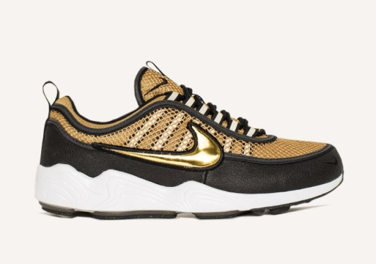 The Nike Zoom Spiridon Releasing In Black/Gold