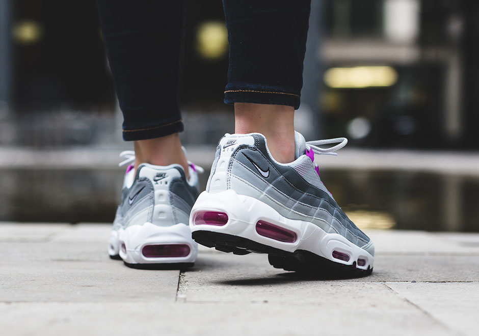 sale retailer 5dab1 6996b Nike WMNS Air Max 95. Color  Pure Platinum Hyper Violet-Wolf Grey Style  Code  307960-001. Advertisement