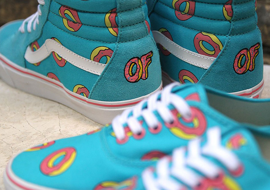 "7360a4484d19 Odd Future x Vans ""Donut"" Sk8-Hi and Authentic. Release Date  9 24 2016"