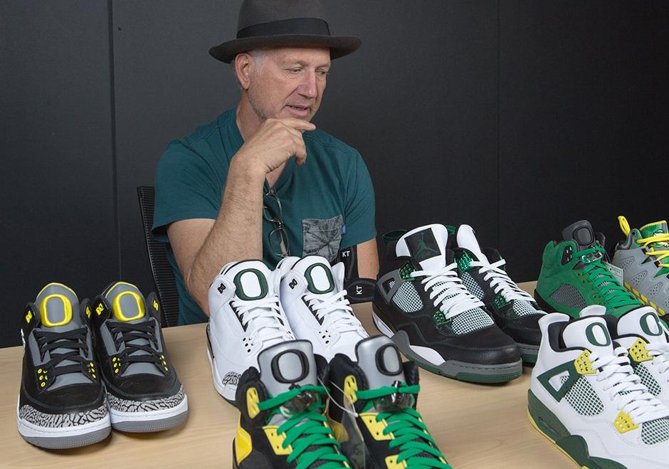 "c5f2f7eb8e69 Tinker Hatfield Looks Back On The Entire History Of Air Jordan ""Oregon"" PEs"