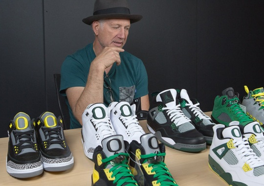 "Air Jordan III  Pit Crew . Tinker Hatfield Looks Back On The Entire History  Of Air Jordan ""Oregon"" PEs 5af366bd04"