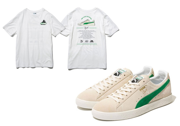 XLARGE mita Puma Clyde Collab Cream Green  0231b4696