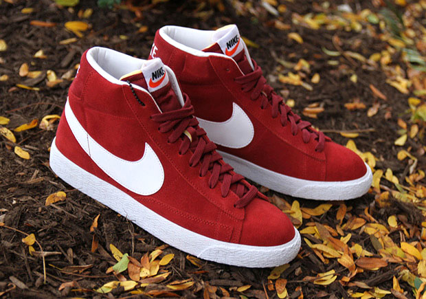 best service 53f4e 23e68 Nike Blazer Team Red Suede 429988-603   SneakerNews.com