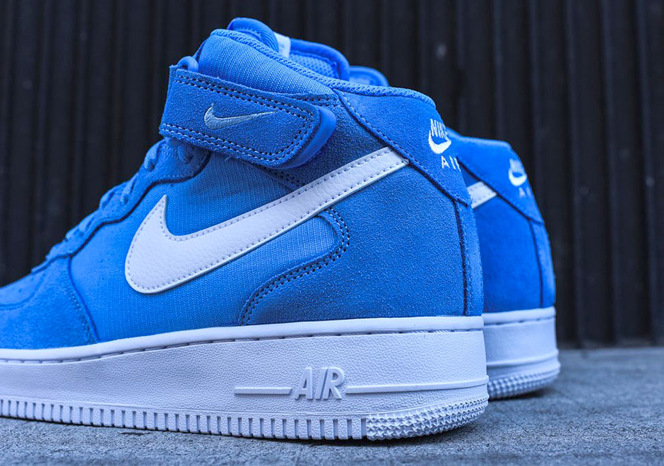 Nike Air Force 1 Mi Bleu Universitaire Blanc AiPfAJNcjP