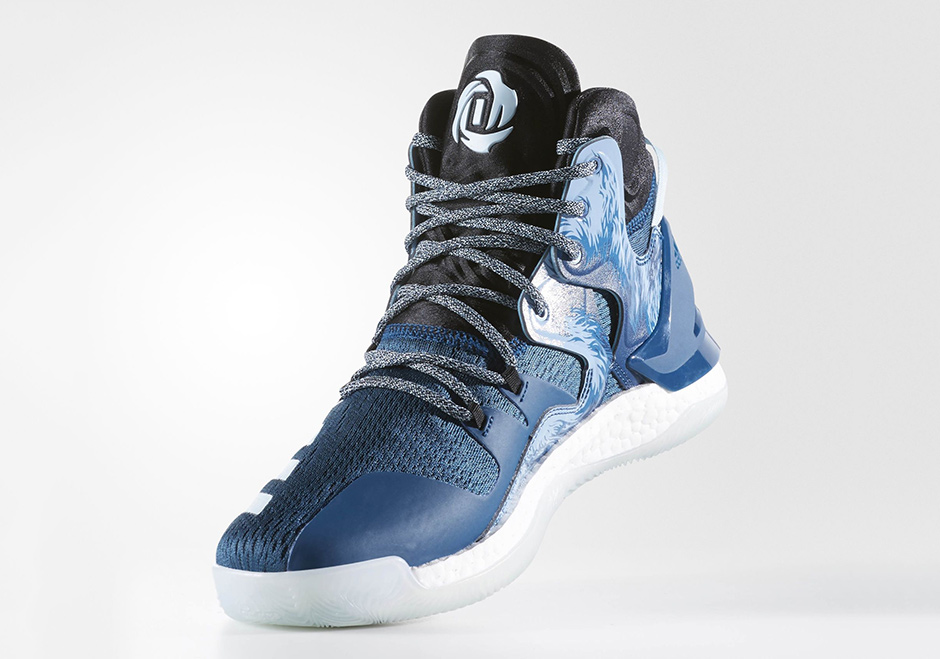 """new product fa29a 14184 adidas D Rose 7 Boost """"Halloween"""". Color Tech SteelIce Blue-Core Black  Style Code B54131 Price 140"""