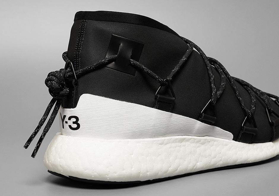 ece88c1c25cd31 adidas Y-3 Cross Lace Run Black White