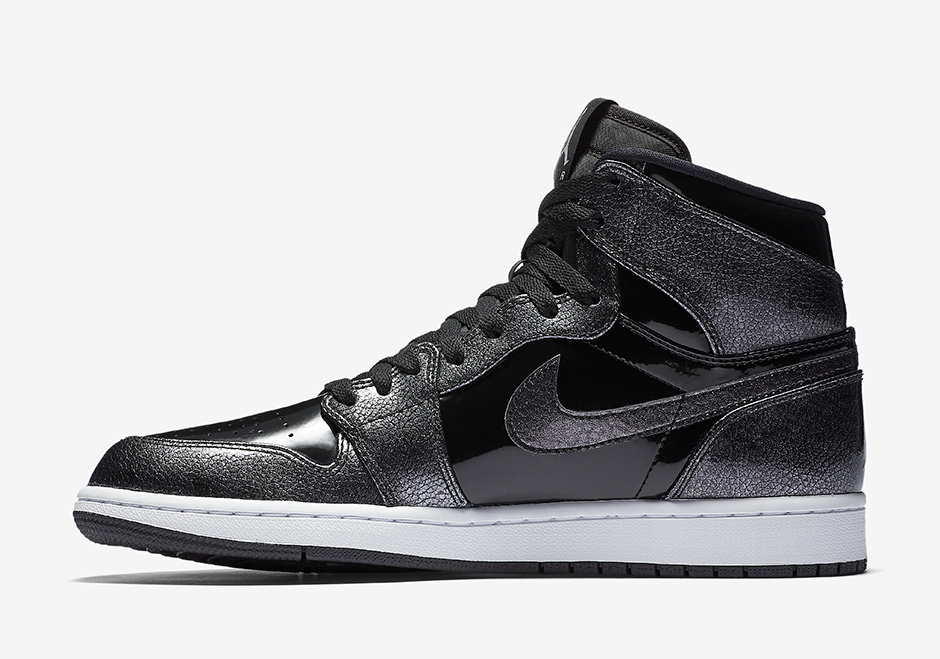 "a218cb4f3c22e4 Air Jordan 1 High ""Patent Leather"". Color  Black Black-Anthracite-White  Style Code  332550-017. Advertisement"