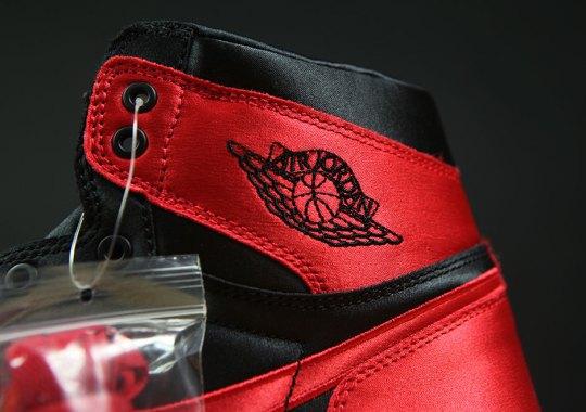 """A Detailed Look At The 1-of-501 Air Jordan 1 """"Satin"""""""