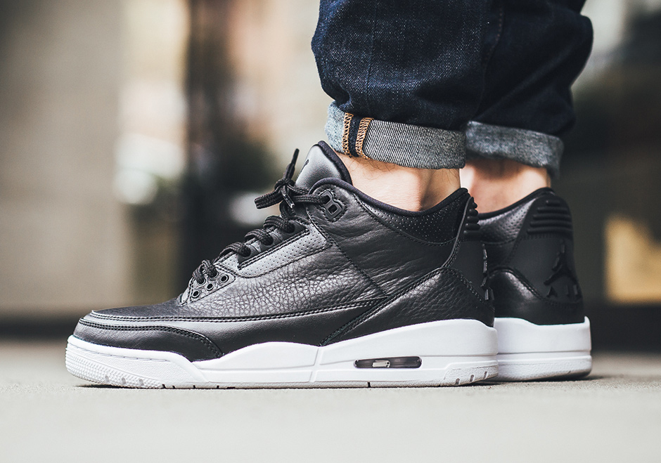"8c5b5f4adc890 Air Jordan 3 ""Cyber Monday"". Color  Black Black-White Style Code  136064-020"