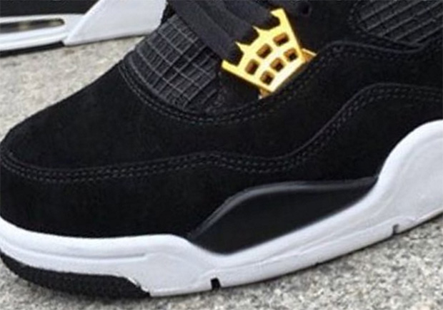 "64a273af04f9b3 Air Jordan 4 ""Royalty"" In Black Gold Releasing In 2017"