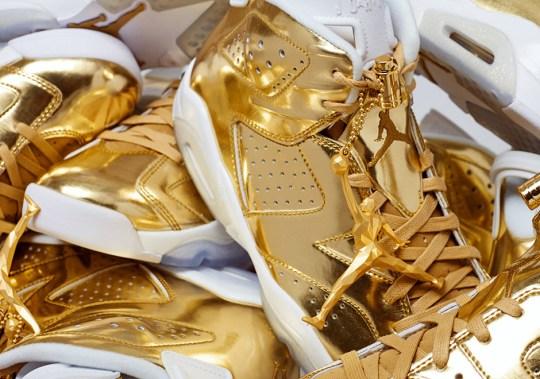 The Air Jordan 6 Pinnacle In Gold Releases Tomorrow