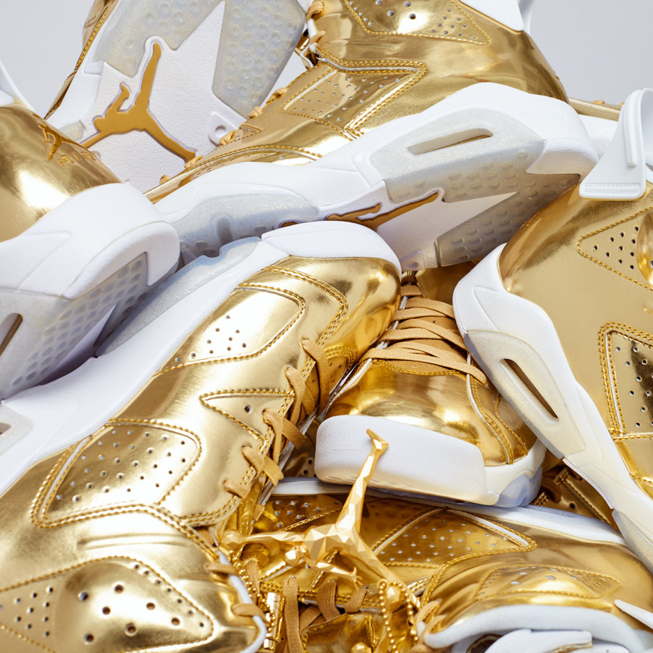 sports shoes f0825 69ad9 Air Jordan 6 Pinnacle. Color  Metallic Gold White