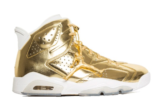The Air Jordan 6 Pinnacle In Gold Releases With Awesome Hangtag