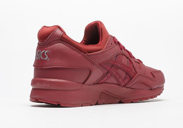 Asics Gel Lyte V Burgundy Leather Sneakernews Com